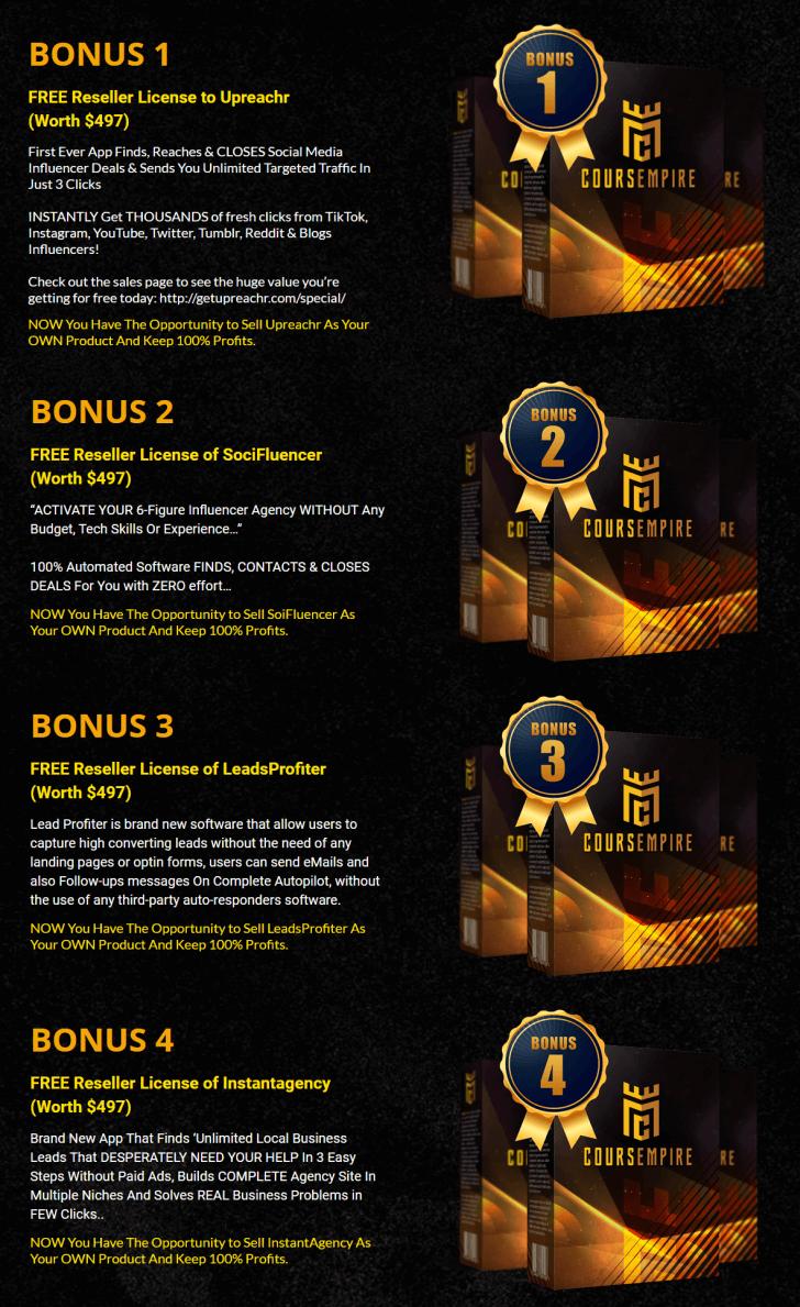 CoursEmpire Review - Bonuses