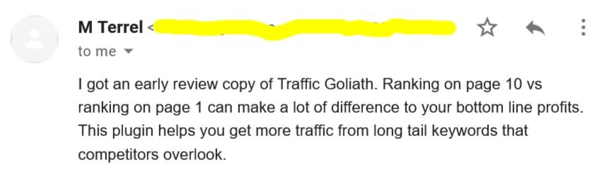 Traffic Goliath review - Feedback