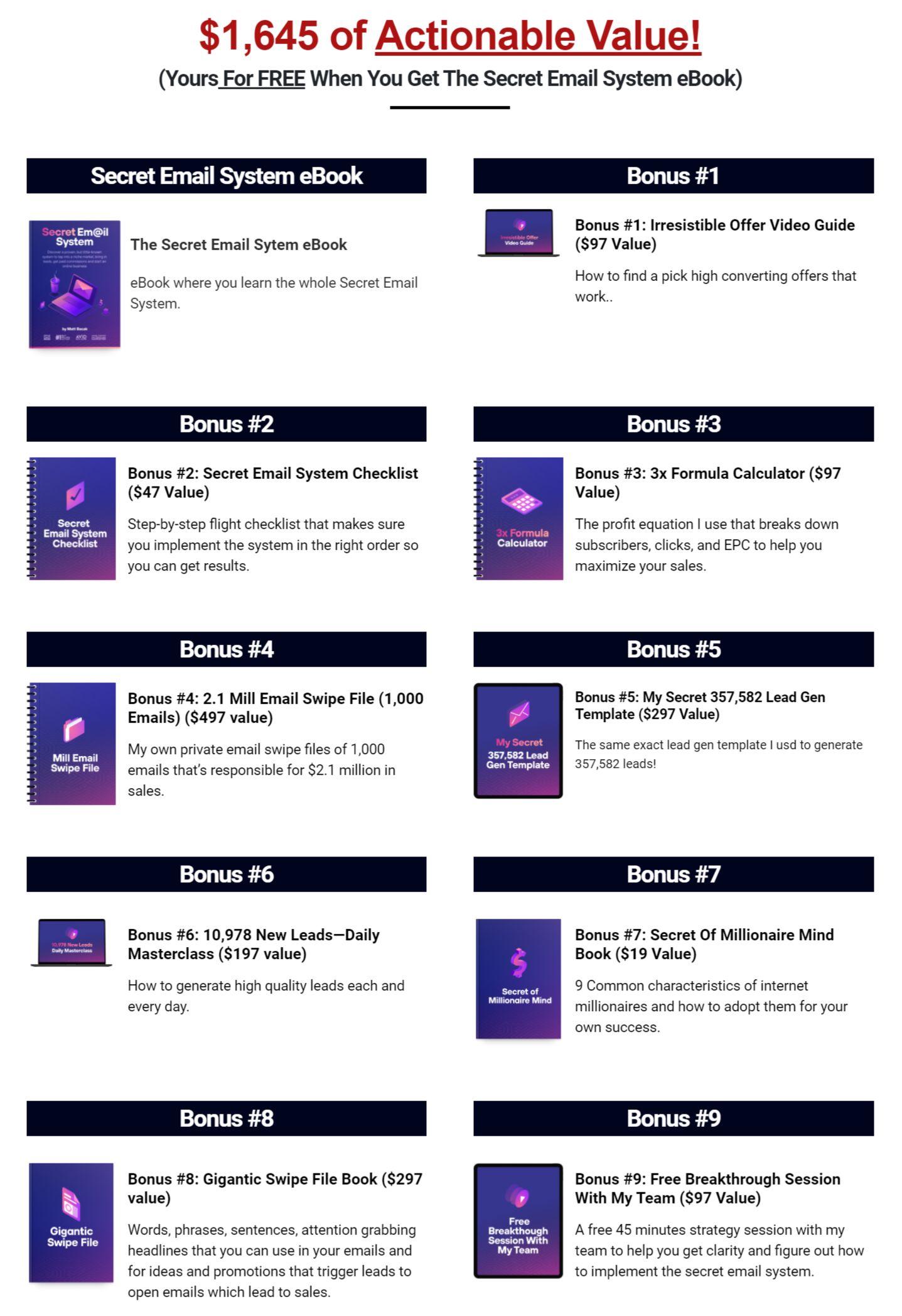 Secret Email System Review - Huge Bonuses